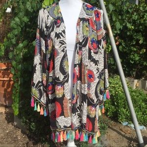 NEW! Jodifl Floral Colorful Tassel Cardigan